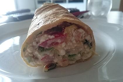 Sommerpfannkuchen mit Zucchini - Knoblauch - Frischkäse - Füllung 21