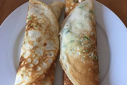 Sommerpfannkuchen mit Zucchini - Knoblauch - Frischkäse - Füllung 27