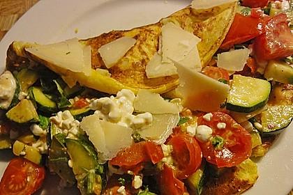 Sommerpfannkuchen mit Zucchini - Knoblauch - Frischkäse - Füllung 18