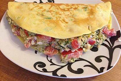 Sommerpfannkuchen mit Zucchini - Knoblauch - Frischkäse - Füllung 10