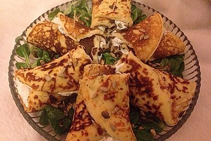 Sommerpfannkuchen mit Zucchini - Knoblauch - Frischkäse - Füllung 20