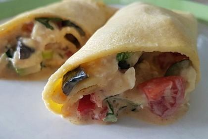Sommerpfannkuchen mit Zucchini - Knoblauch - Frischkäse - Füllung 17