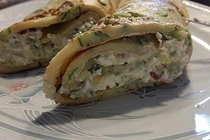 Sommerpfannkuchen mit Zucchini - Knoblauch - Frischkäse - Füllung 19