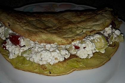 Sommerpfannkuchen mit Zucchini - Knoblauch - Frischkäse - Füllung 34
