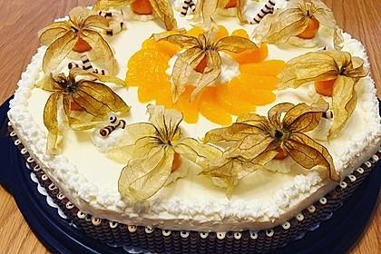 Käse - Sahne - Torte mit Mandarinen 1