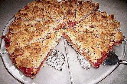 Schneller Nektarinen - Kuchen mit Streuseln