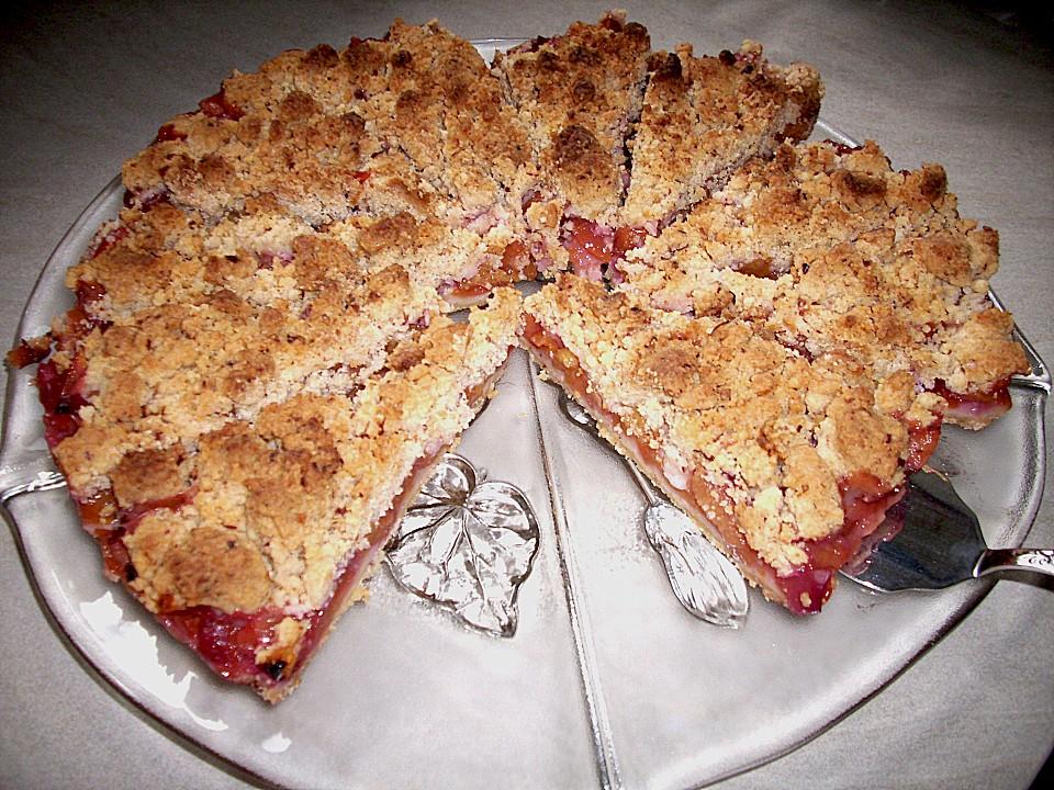 interesting schneller nektarinen kuchen mit streuseln with kchen mit