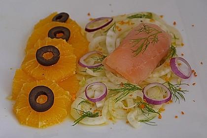 Fenchel - Orangen - Salat mit geräuchertem Lachs 1
