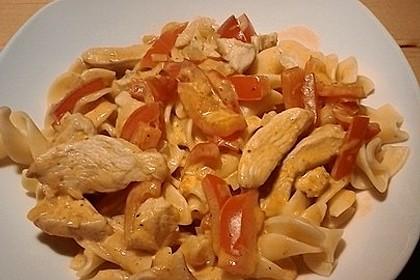 Cremige Geflügel - Paprika - Soße (Bild)