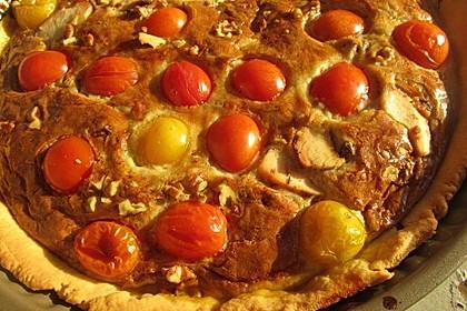 Roquefort - Tomaten - Quiche mit Walnüssen (Bild)