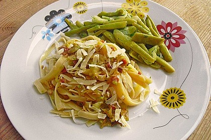 Spaghetti mit Zucchini 4