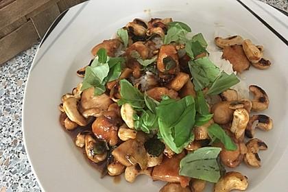 Gebratenes Hühnchen mit roter Currypaste & Cashewnüssen 4