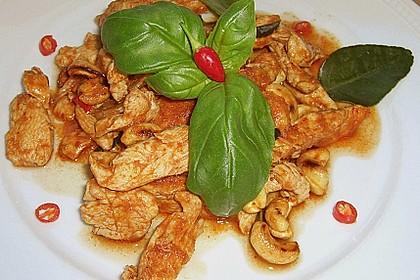 Gebratenes Hühnchen mit roter Currypaste & Cashewnüssen 3