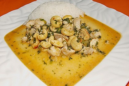 Gebratenes Hühnchen mit roter Currypaste & Cashewnüssen 8