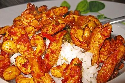 Gebratenes Hühnchen mit roter Currypaste & Cashewnüssen 7