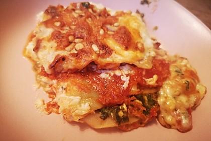 Spinat - Tomaten - Lasagne (Bild)