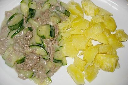 Würzige Zucchini - Hackfleisch - Pfanne 5