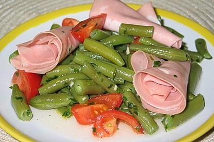 Wachsbohnensalat mit Mortadella (Bild)