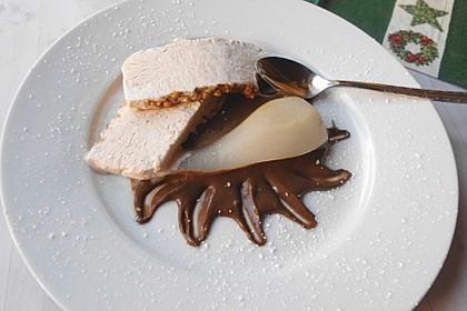 Zimteis mit Birnen und Lebkuchensauce 2