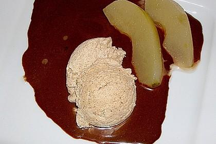 Zimteis mit Birnen und Lebkuchensauce 11