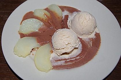 Zimteis mit Birnen und Lebkuchensauce 8