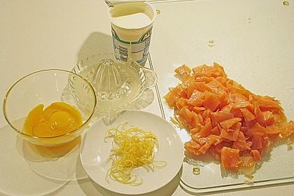 Spinat - Zitronen - Sahne - Sauce mit Räucherlachs 3