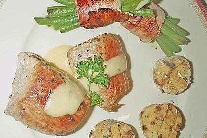 Chateaubriand mit Speckbohnen, Macaire - Kartoffeln und Sauce Béarnaise 19