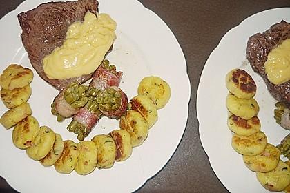 Chateaubriand mit Speckbohnen, Macaire - Kartoffeln und Sauce Béarnaise 16