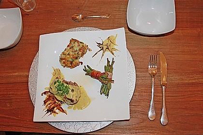 Chateaubriand mit Speckbohnen, Macaire - Kartoffeln und Sauce Béarnaise 18