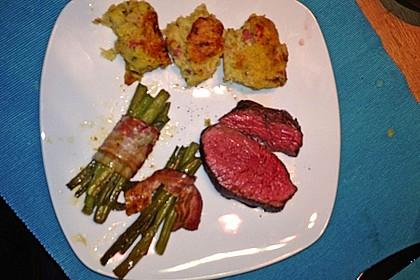 Chateaubriand mit Speckbohnen, Macaire - Kartoffeln und Sauce Béarnaise 28