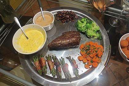 Chateaubriand mit Speckbohnen, Macaire - Kartoffeln und Sauce Béarnaise 20