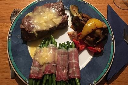 Chateaubriand mit Speckbohnen, Macaire - Kartoffeln und Sauce Béarnaise 3
