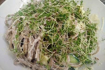 Nudelgericht grün - weiß, vegetarisch 3