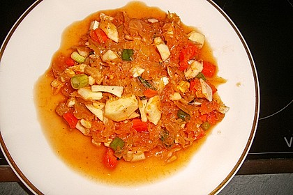 Sauerkrautsalat mit einer asiatischen Note
