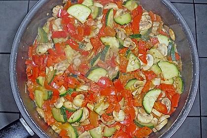 Mediterrane Nudel - Gemüse - Pfanne 2