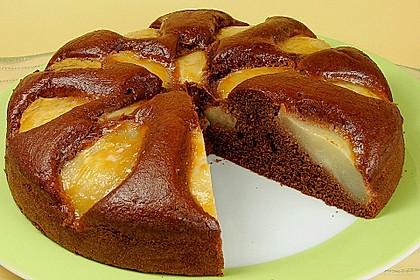 Birnen - Schokolade - Kuchen 1