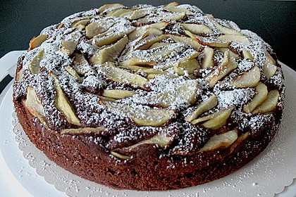 Birnen - Schokolade - Kuchen 9