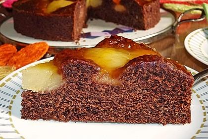 Birnen - Schokolade - Kuchen 3
