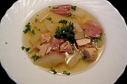 Hühner - Kohlrabi - Suppe
