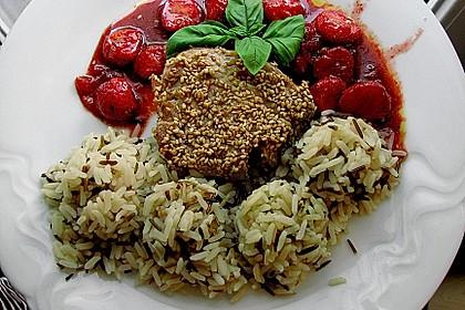 Thunfischsteak mit pikanten Gewürz - Erdbeeren 1