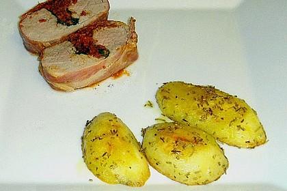 Gefüllte Schweinefilets mit Parmaschinken 66