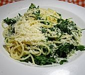 Spaghetti mit Rucola (Bild)
