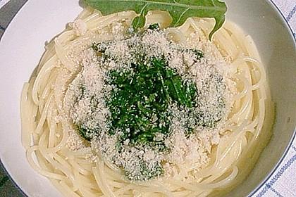Spaghetti mit Rucola 6