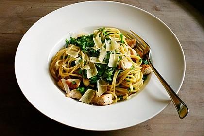 Spaghetti mit Rucola 1