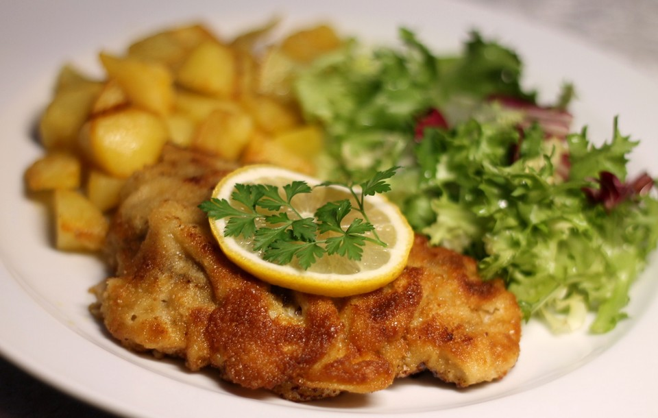 Panierte Kalbsschnitzel Von Nora Chefkoch