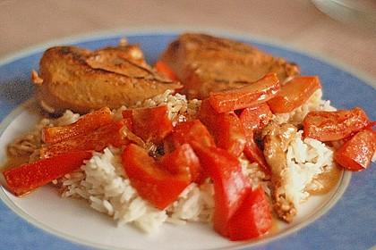 Hähnchen mit Reis 8