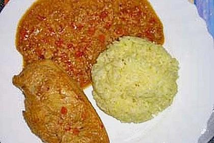 Hähnchen mit Reis 90