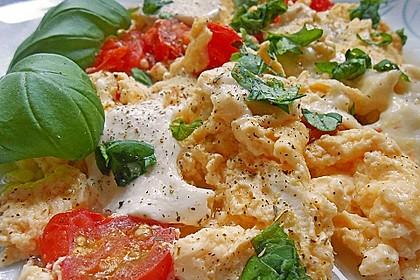 Eier - Tomaten - Mozarella - Pfanne 3