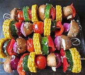 Gemüse-Grillspieße (Bild)