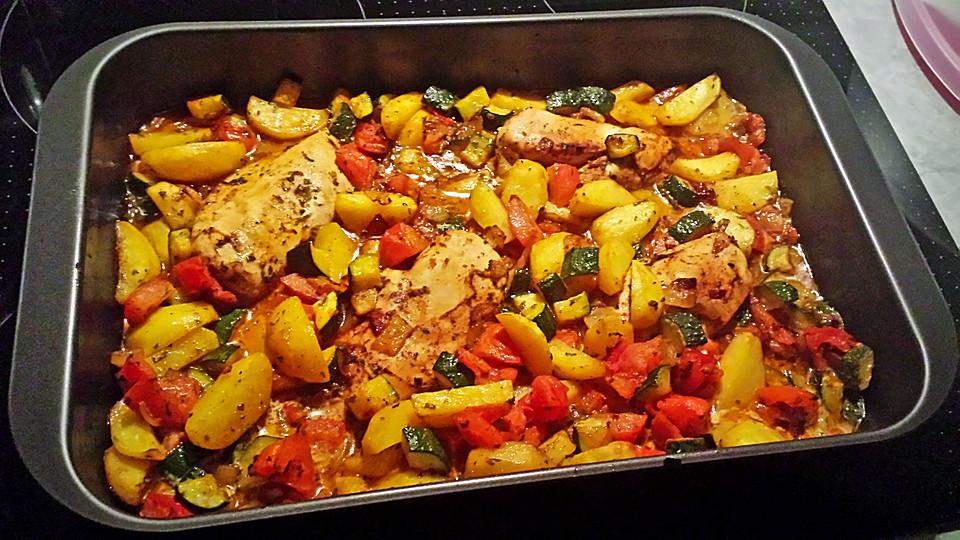 Gegrilltes Hähnchen Mit Gemüse Von Romilly Chefkoch